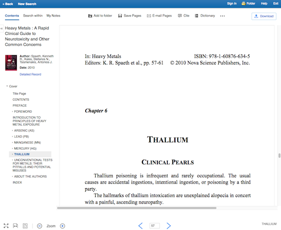 EBSCO's in-browser reader for ebooks.